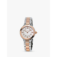 Buy Frédérique Constant FC-200WHD1ER32B Women's Classics Delight Diamond Two Tone Bracelet Strap Watch, Silver/Rose Gold Online at johnlewis.com