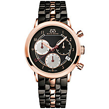 Buy 88 Rue Du Rhone 87WA143507 Women's Double 8 Origin Chronograph Date Bracelet Strap Watch, Black Online at johnlewis.com
