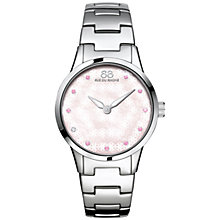Buy 88 Rue Du Rhone 87WA153203 Women's Rive Pink Sapphire and Diamond Filigree Dial Bracelet Strap Watch, Silver/Mother of Pearl Online at johnlewis.com