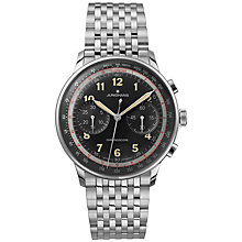 Buy Junghans 027/3381.44 Men's Meister Telemeter Chronograph Bracelet Strap Watch, Silver/Black Online at johnlewis.com