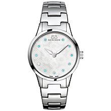 Buy 88 Rue Du Rhone 87WA153210 Women's Rive Blue Topaz and Diamond Filigree Dial Bracelet Strap Watch, Silver/Mother of Pearl Online at johnlewis.com