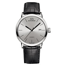 Buy 88 Rue Du Rhone 87WA154211 Men's Double 8 Origin Automatic Date Alligator Leather Strap Watch, Black/Silver Online at johnlewis.com