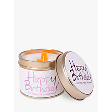 Buy Lily-Flame Happy Birthday Scented Candle Tin Online at johnlewis.com