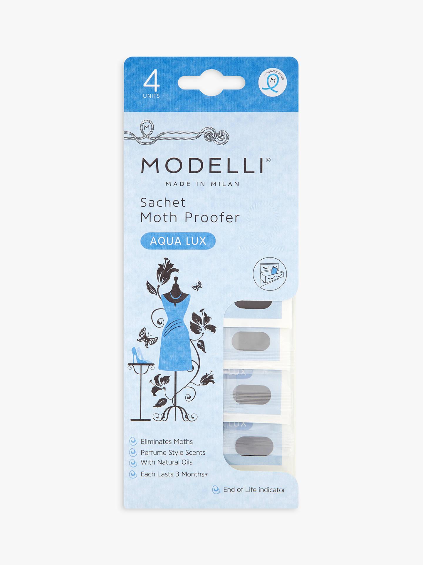 BuyAcana Modelli Aqua Lux Moth Proofer Sachet, Pack of 4 Online at johnlewis.com