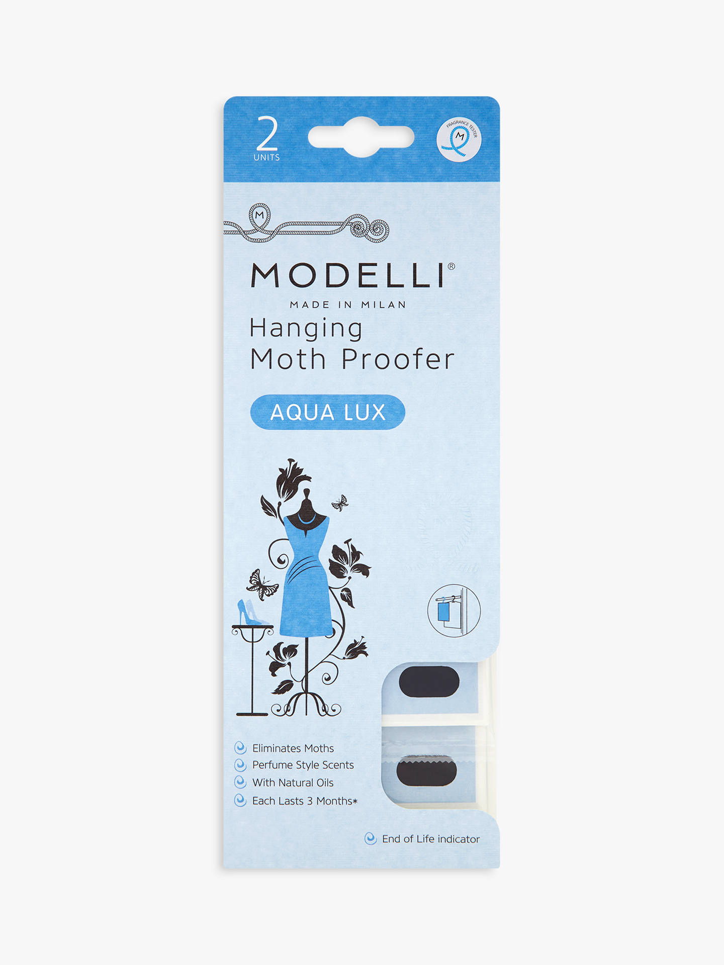 Buy Acana Modelli Aqua Lux Hanging Moth Proofer Sachet, Pack of 2 Online at johnlewis.com