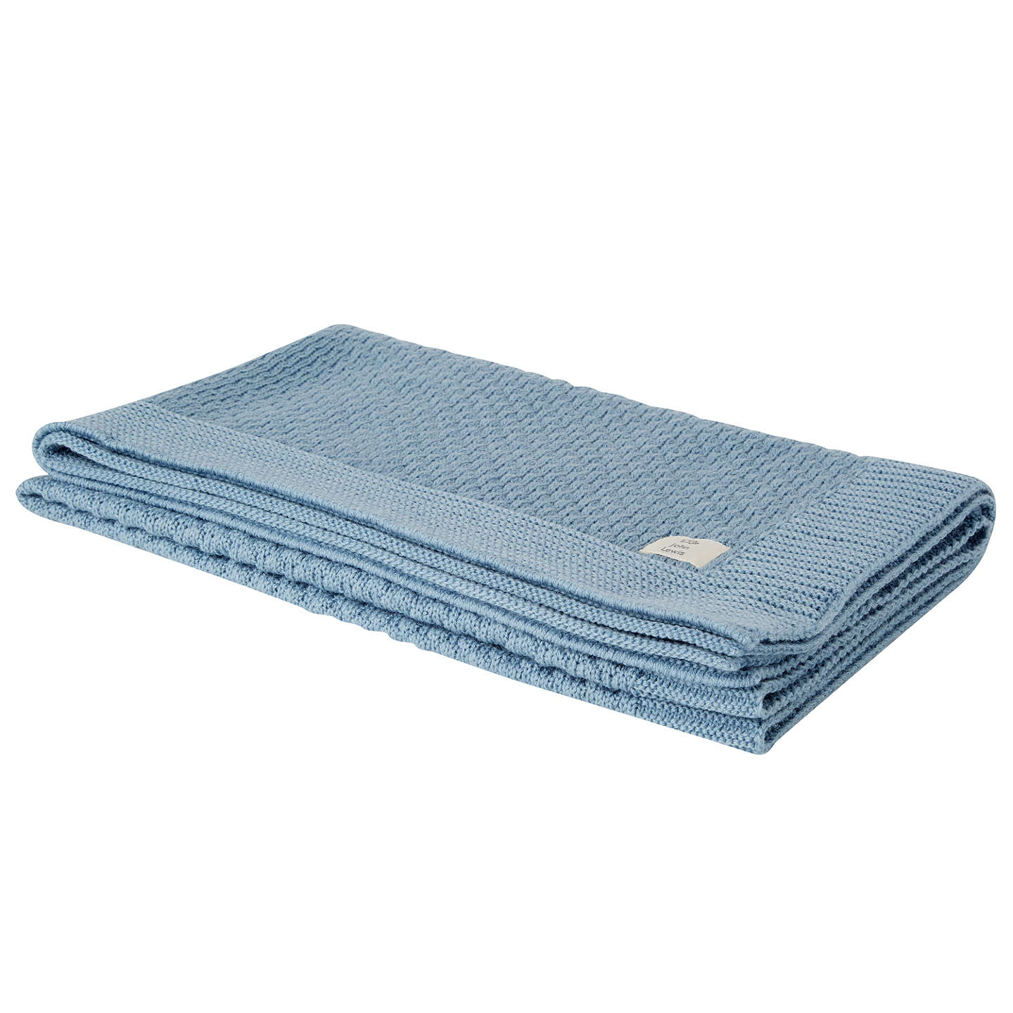 BuyJohn Lewis Honeycomb Pram Blanket, Blue Online at johnlewis.com