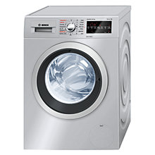 Buy Bosch WVG3046SGB Washer Dryer, 8kg Wash/5kg Dry Load, A Energy Rating, 1500rpm Spin, Silver Online at johnlewis.com