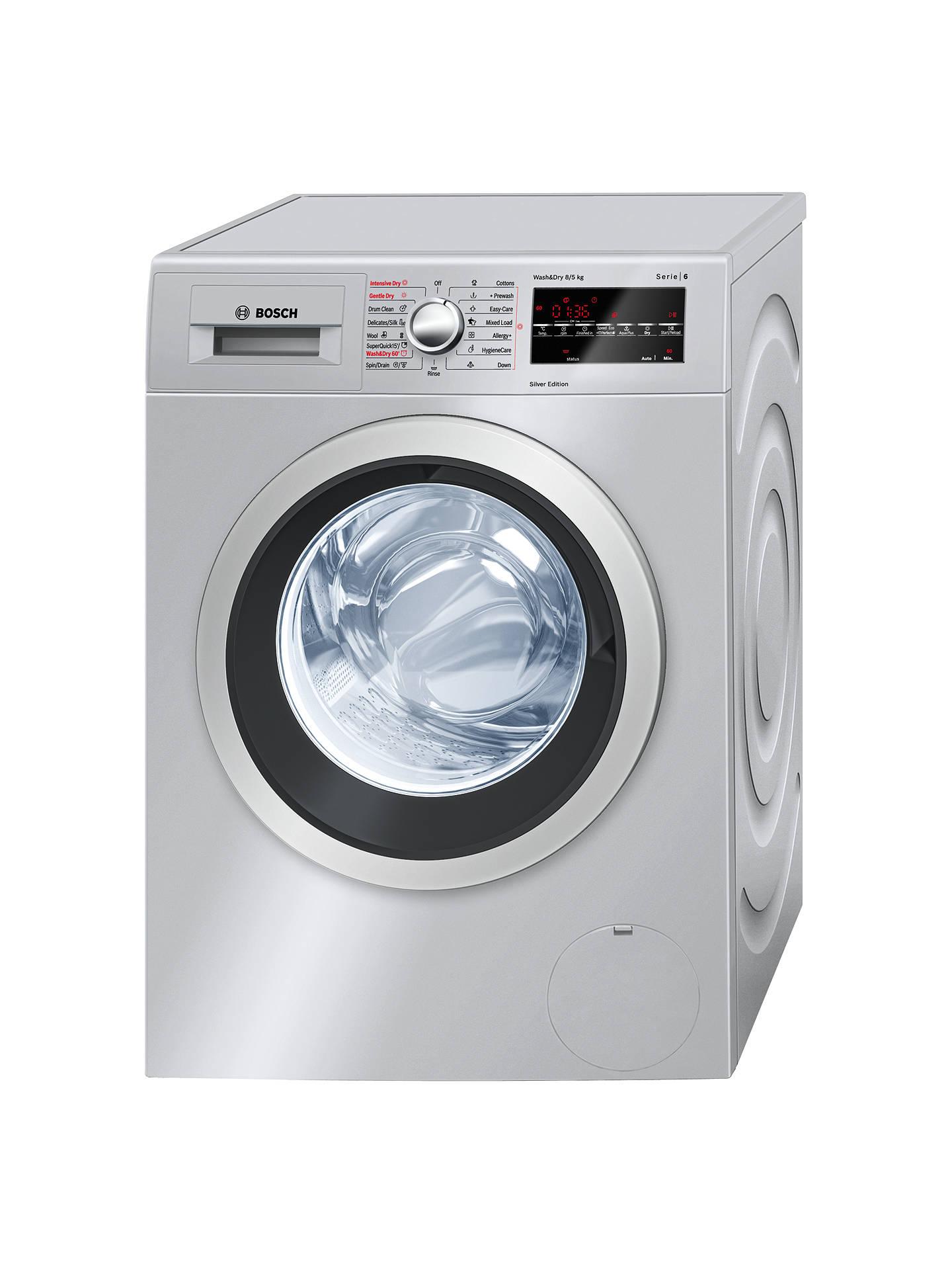 Bosch Wvg3046sgb Washer Dryer 8kg Wash 5kg Dry Load A Energy Rating