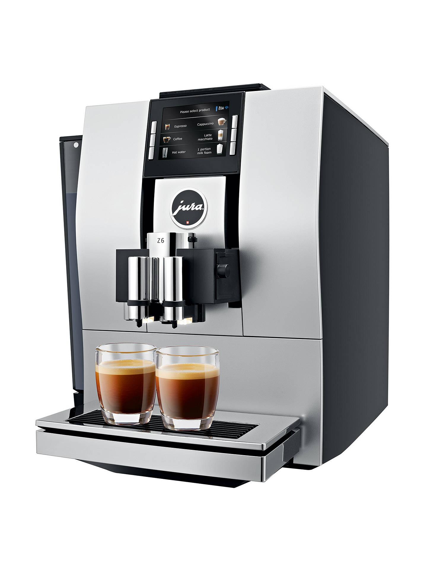 ... BuyJura Impressa Z6 Bean-to-Cup Coffee Machine, Satin Silver Online at  johnlewis