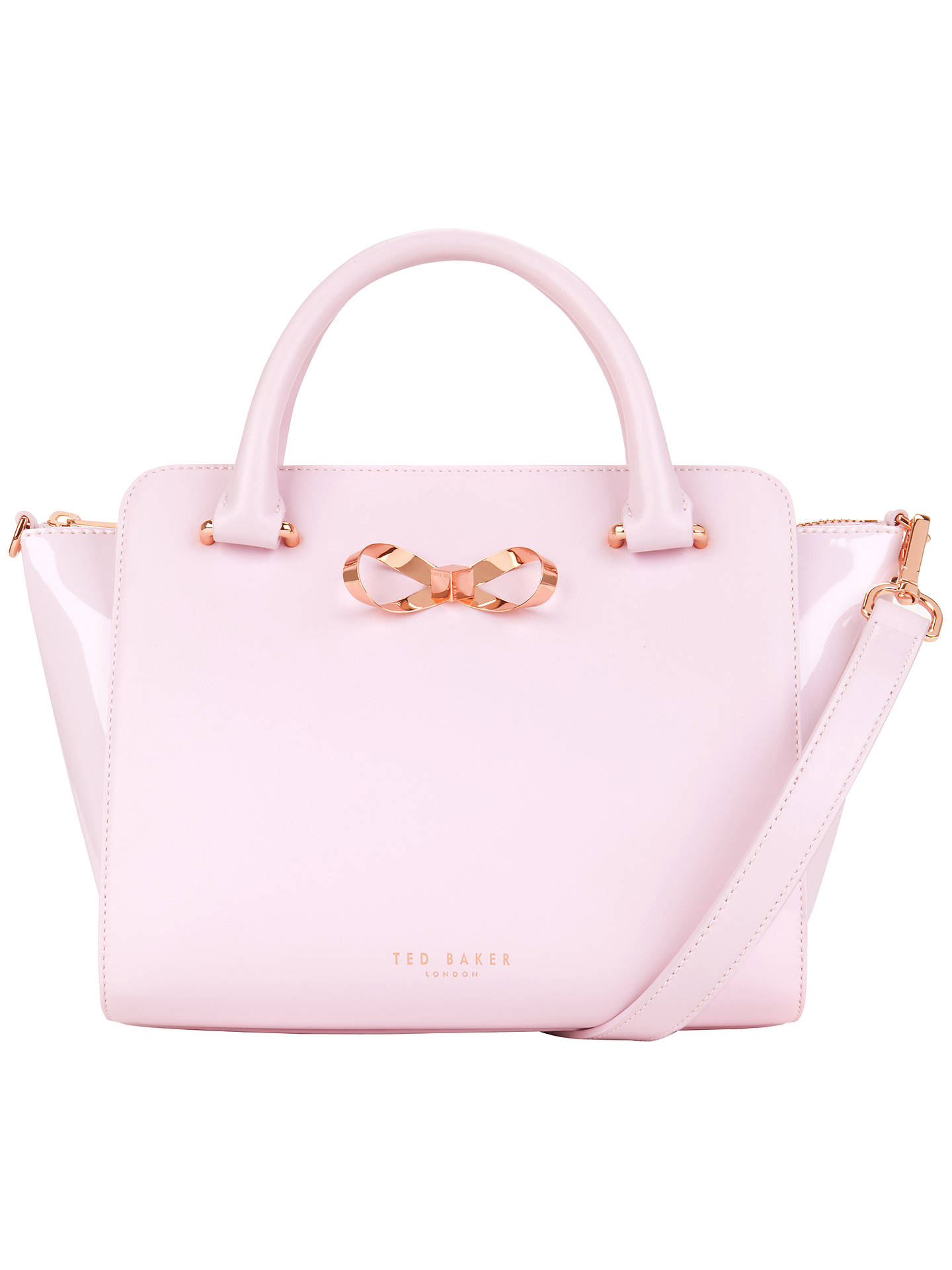 dd7a962aa60c19 Ted Baker Paiton Bow Leather Tote Bag at John Lewis   Partners