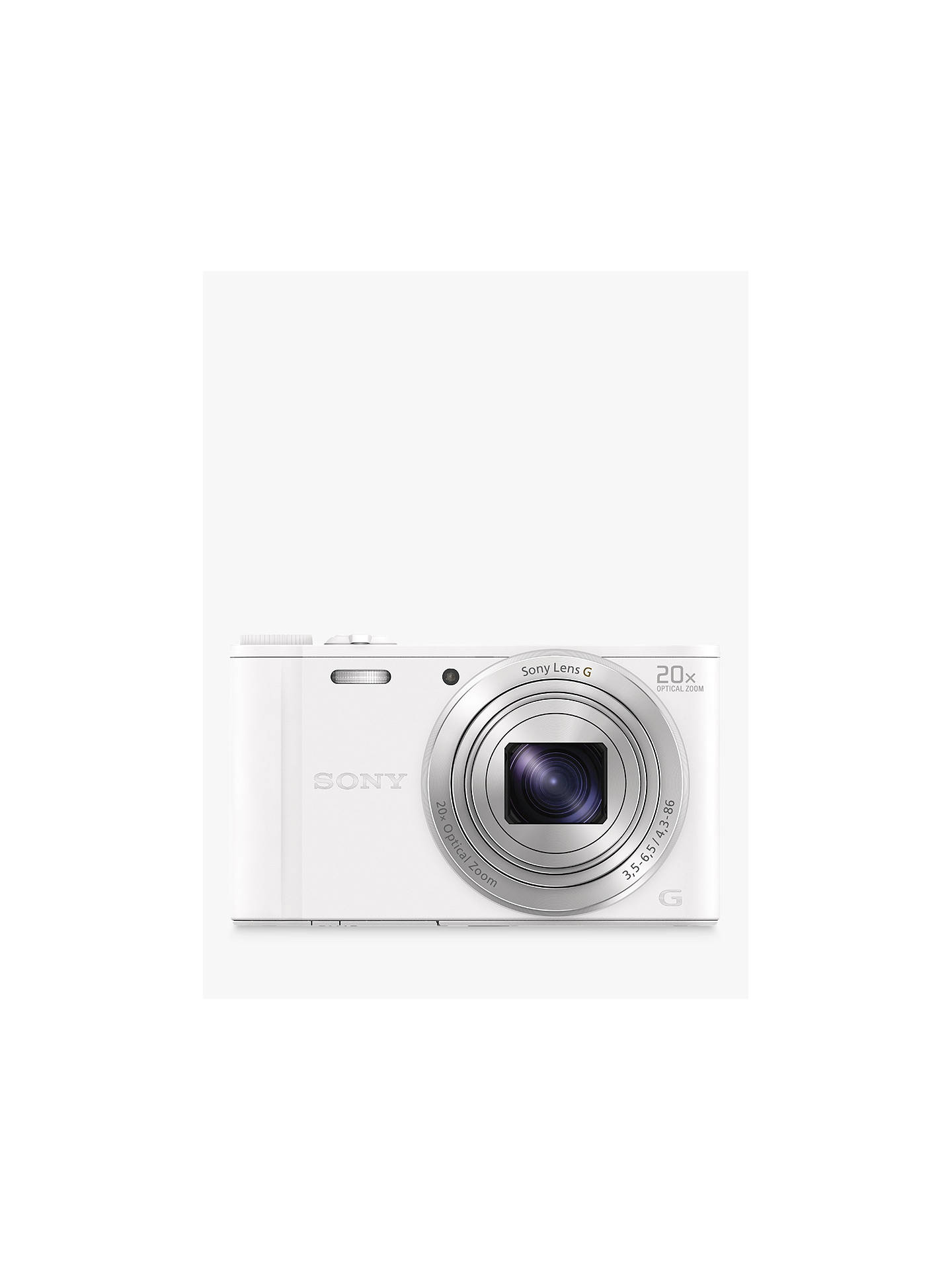 "Buy Sony Cyber-Shot WX350 Compact Camera, HD 1080p, 18.2MP, 20x Optical Zoom, Wi-Fi, NFC, 3"" LCD Screen, White Online at johnlewis.com"