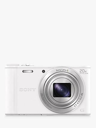 "Sony Cyber-Shot WX350 Compact Camera, HD 1080p, 18.2MP, 20x Optical Zoom, Wi-Fi, NFC, 3"" LCD Screen"
