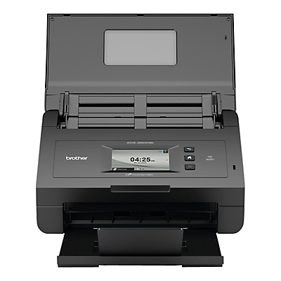 Product photo of Brother ads2600we scanner with wifi automatic document feeder 3 6 touch display