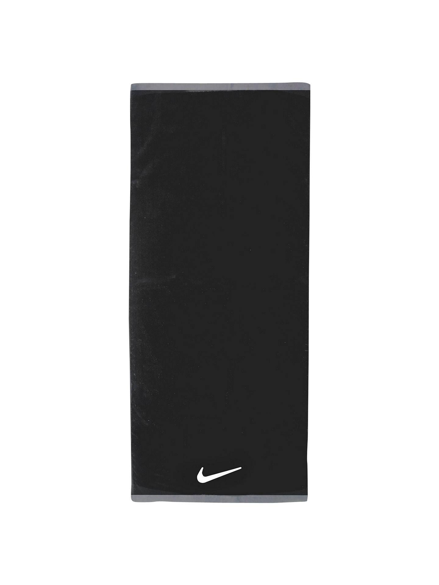 28fbcc1b Buy Nike Fundamental Cotton Towel, Black Online at johnlewis.com
