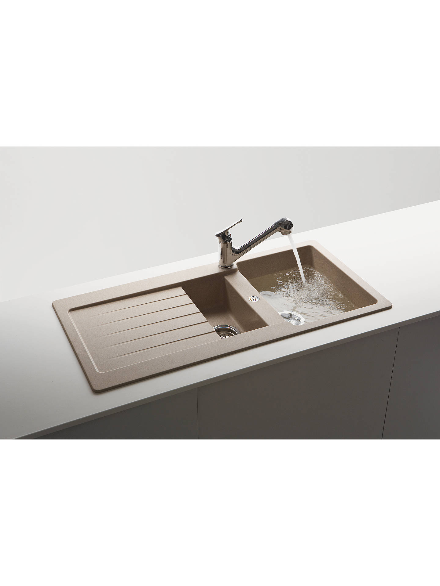 BuySchock Typos 1.5 Bowl Kitchen Sink, Croma Online at johnlewis.com