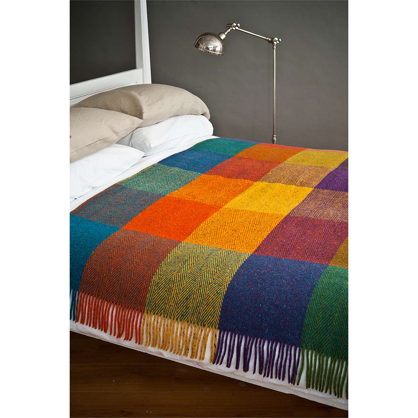 BuyAvoca Heavy Herringbone Wool Check Throw, Circus Online at johnlewis.com