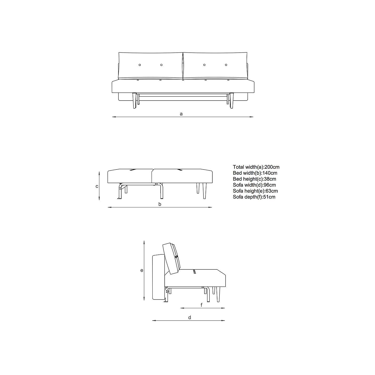 Sofa Height buy innovation recast sofa bed with pocket sprung mattress, dark
