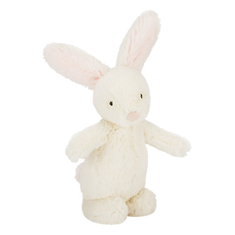 Buy Jellycat Bobtail Bunny Rattle, One Size, Cream/Pink Online at johnlewis.com