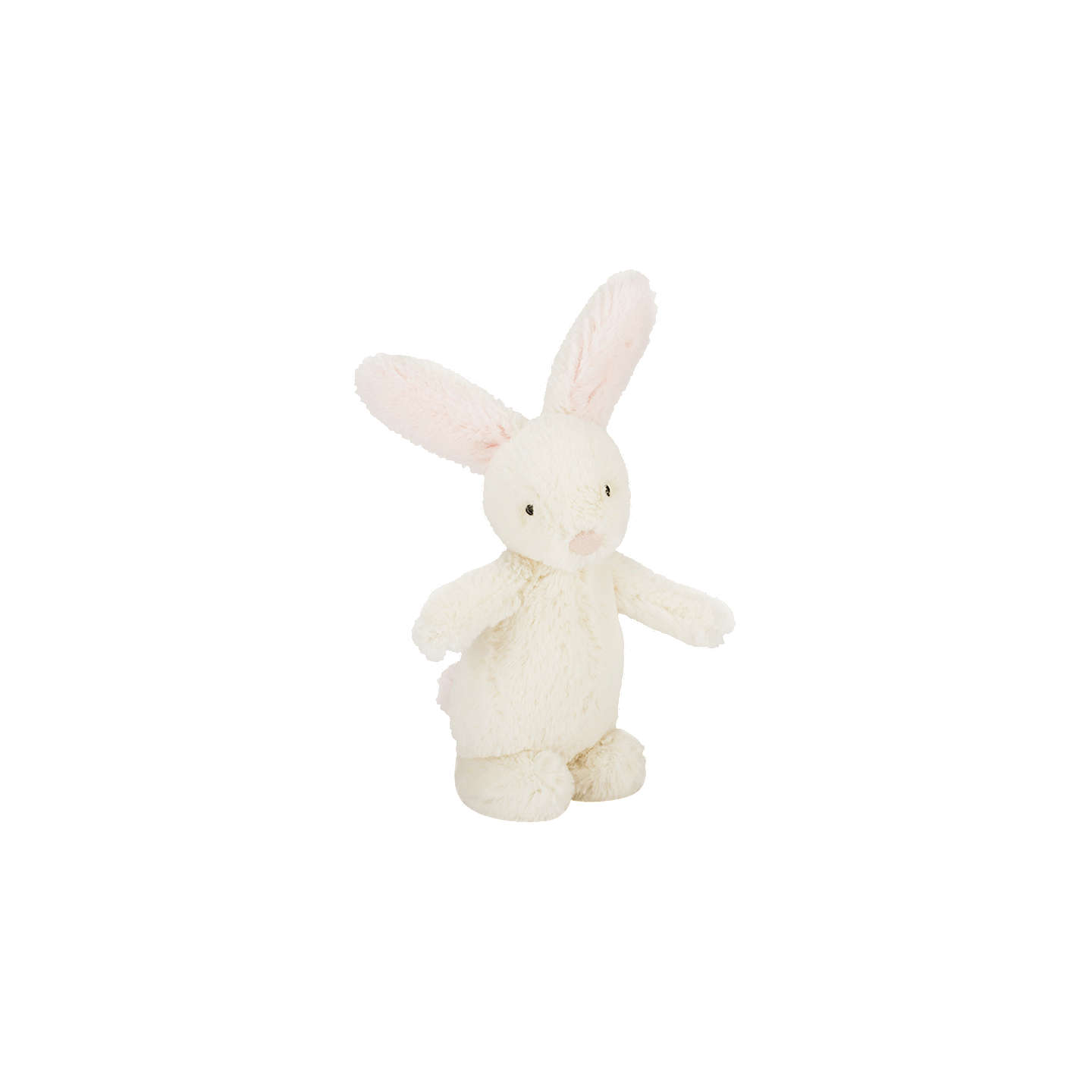 BuyJellycat Bobtail Bunny Rattle, One Size, Cream/Pink Online at johnlewis.com