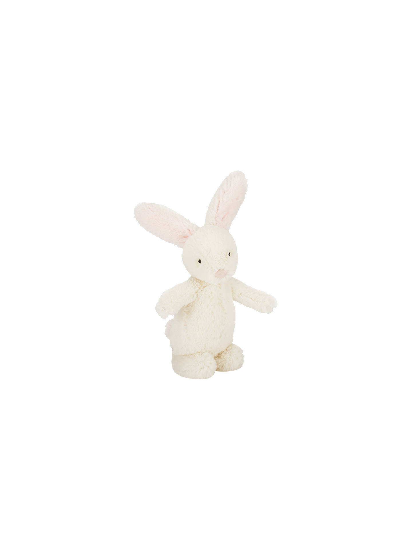BuyJellycat Bobtail Bunny Rattle, Cream/Pink Online at johnlewis.com