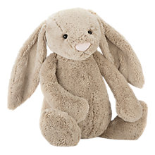 Buy Jellycat Bashful Bunny Soft Toy, Really Big, Beige Online at johnlewis.com