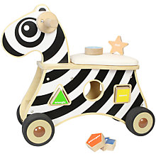 Buy Baby Ride-On Zebra Shape Sorter Online at johnlewis.com