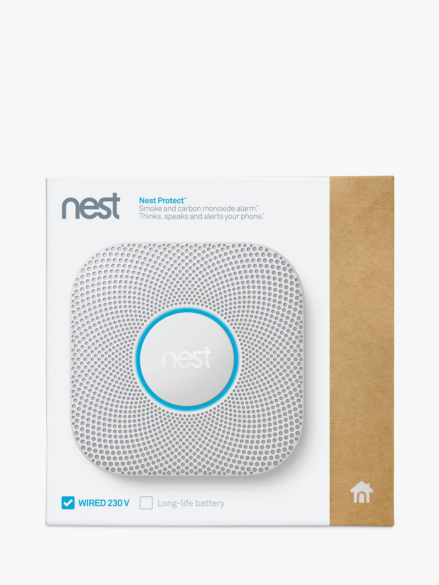 BuyNest Protect, Smoke + Carbon Monoxide Alarm, Wired Online at johnlewis.com
