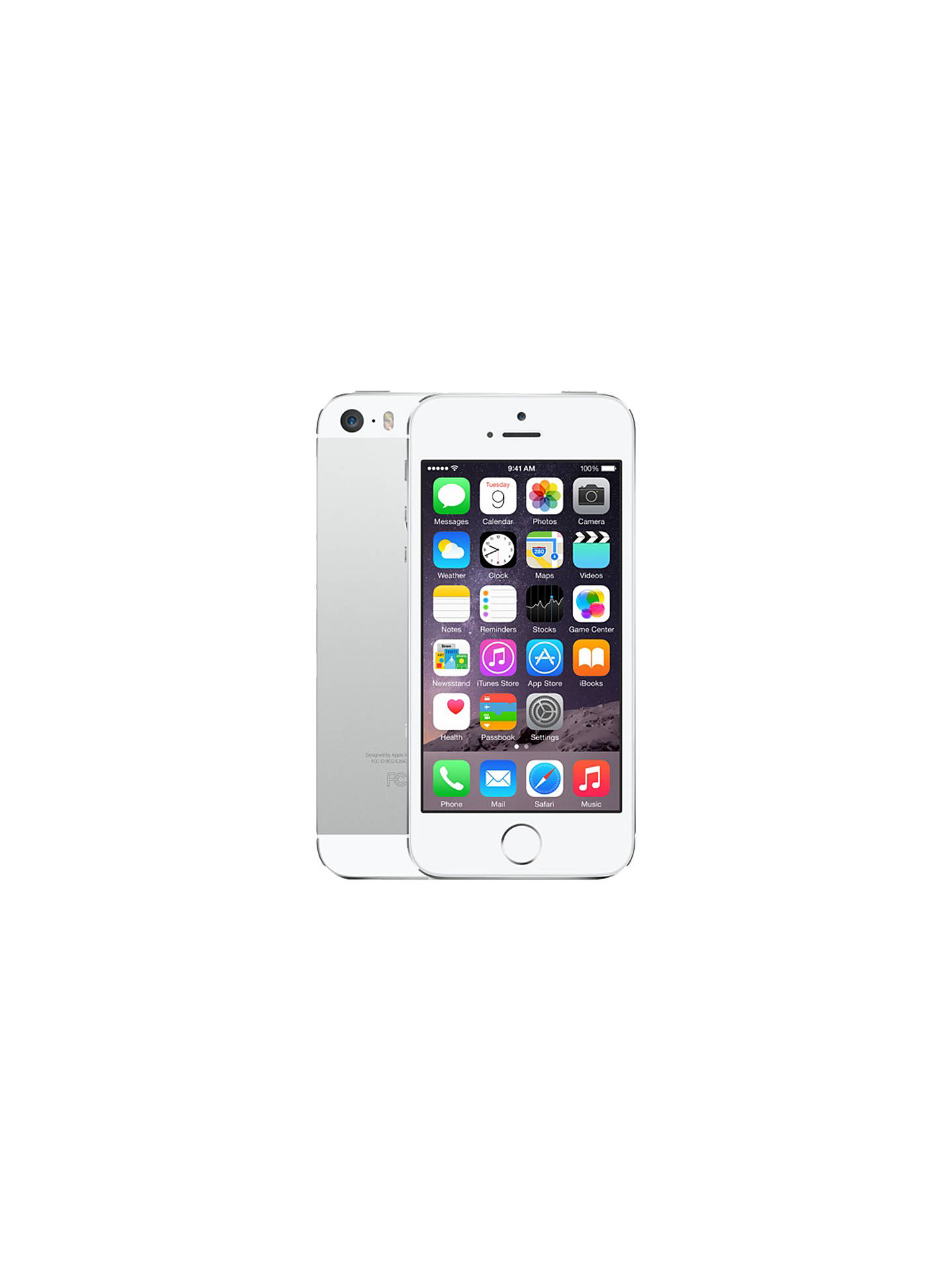 Apple Iphone 5s Ios 4 4g Lte Sim Free 16gb At John Lewis Se Grey Buyapple
