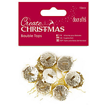 Buy Docrafts Bauble Tops, Gold, 10pcs Online at johnlewis.com