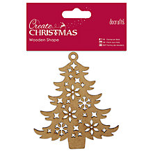 Buy Docrafts Christmas Wooden Shape Tree Decoration, Brown Online at johnlewis.com