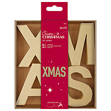 Buy Docrafts 3D XMAS Letters Decoration, Pack of 4, Neutral Online at johnlewis.com