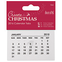 Buy Docrafts 2016 Calendar Tabs Online at johnlewis.com