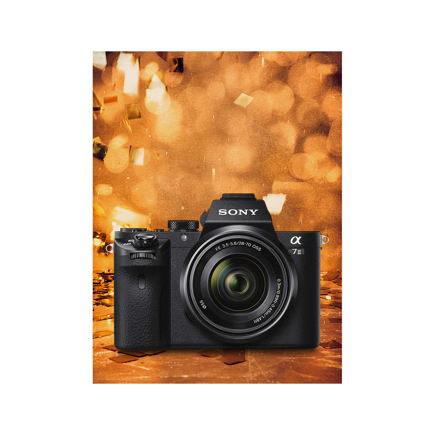 "BuySony Alpha 7 II Compact System Camera With HD 1080p, 24.3MP, Wi-Fi, NFC, OLED EVF, 5-Axis Image Stabiliser & 3"" LCD Screen, 28-70mm Lens Included Online at johnlewis.com"