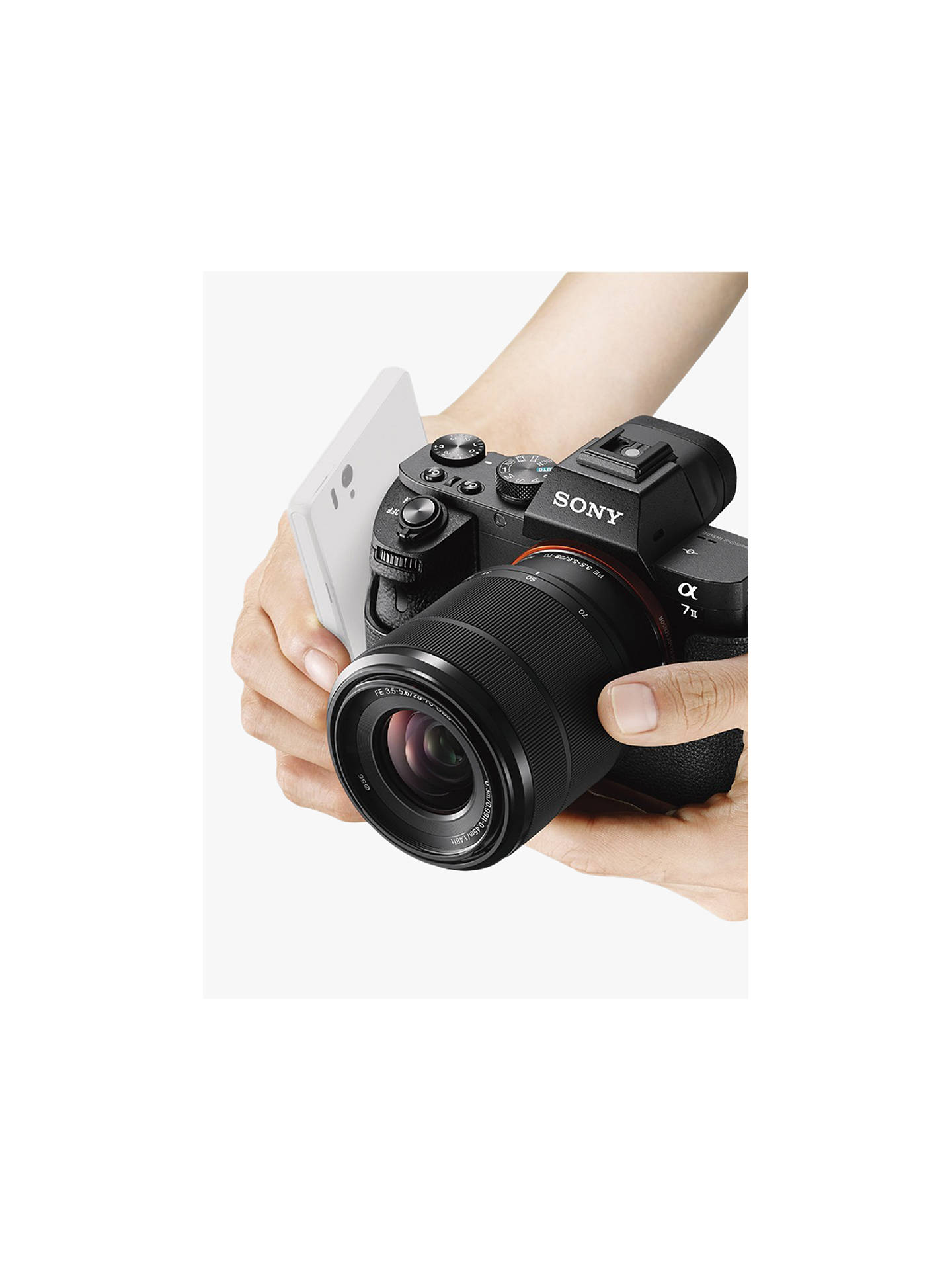 "BuySony a7 II (Alpha ILCE-7M2) Compact System Camera With HD 1080p, 24.3MP, Wi-Fi, NFC, OLED EVF, 5-Axis Image Stabiliser & 3"" LCD Screen, 28-70mm Lens Included Online at johnlewis.com"