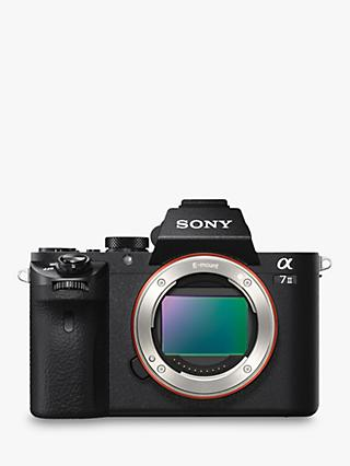 "Sony a7 II (Alpha ILCE-7M2) Compact System Camera With HD 1080p, 24.3MP, Wi-Fi, NFC, OLED EVF, 5-Axis Image Stabiliser & 3"" LCD Screen, Body Only"