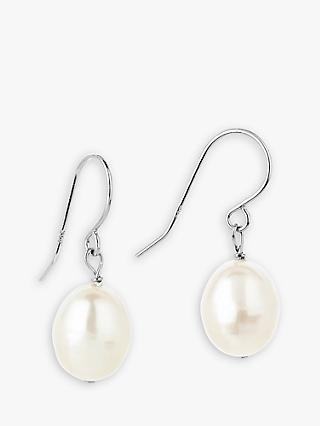 Claudia Bradby Pearl Drop Earrings, White