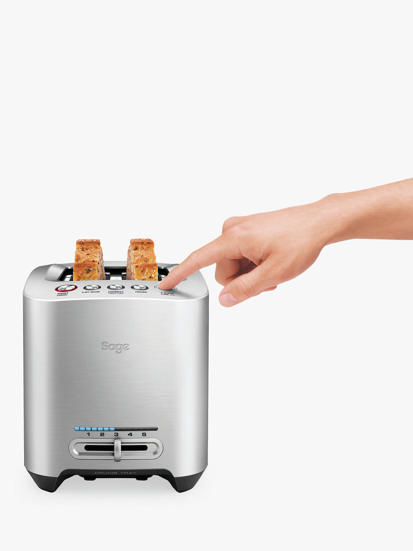 BuySage the Smart Toast™ 2 Slice Toaster, Stainless Steel Online at johnlewis.com