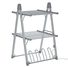 Buy John Lewis 2-Tier Heated Indoor Clothes Airer Online at johnlewis.com