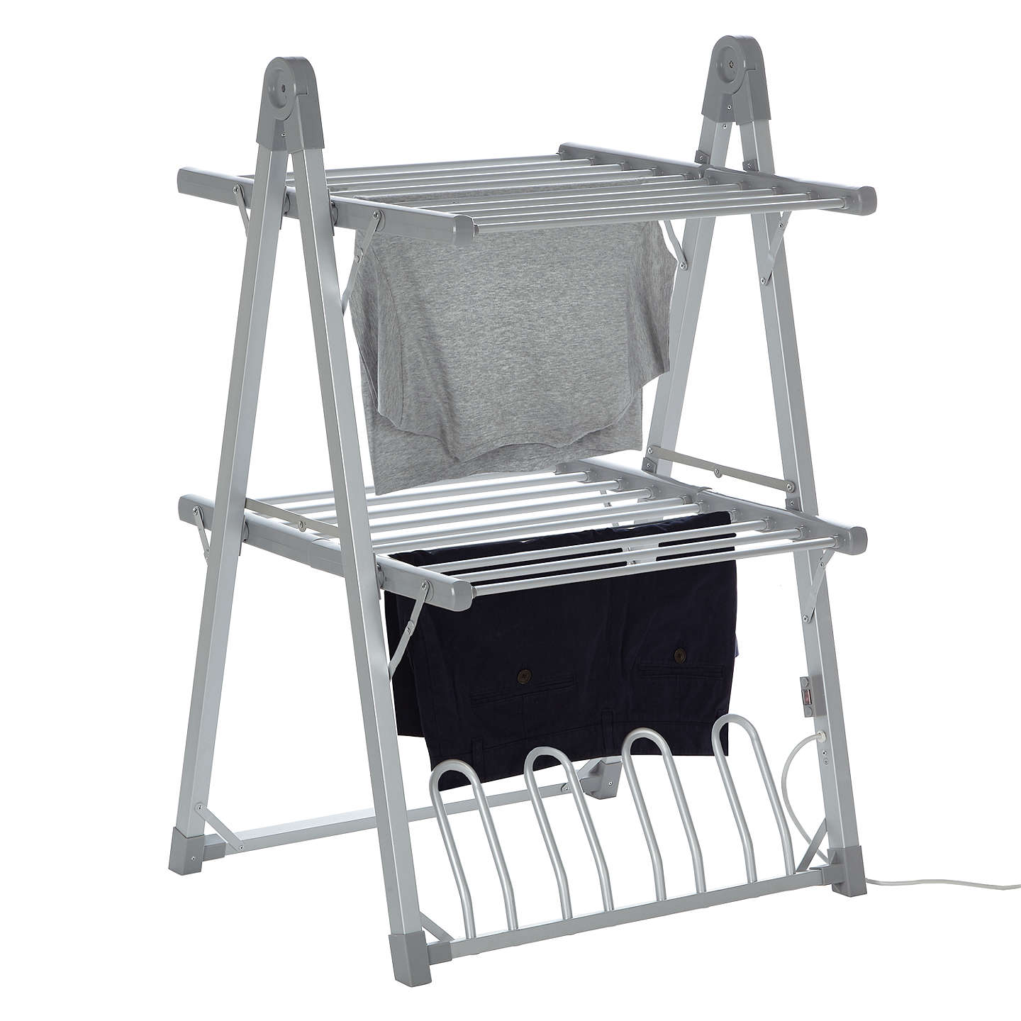 Buyjohn Lewis 2 Tier Heated Indoor Clothes Airer Online At Johnlewiscom