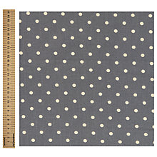 Buy Linen Look Polka Dot Fabric Online at johnlewis.com