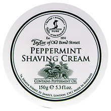 Buy Taylor of Old Bond Street Peppermint Shaving Cream, 150g Online at johnlewis.com