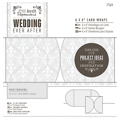 Docrafts Wedding Card Wraps, Dove Grey, 6 x 6, Pack of 25