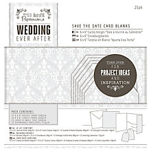 Buy Docrafts Wedding Save The Date Card Blanks, Dove Grey, Pack of 25 Online at johnlewis.com