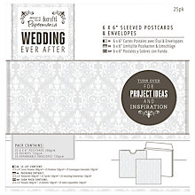"Buy Docrafts Wedding Sleeved Postcards and Envelopes, Dove Grey, 6 x 6"", Pack of 25 Online at johnlewis.com"