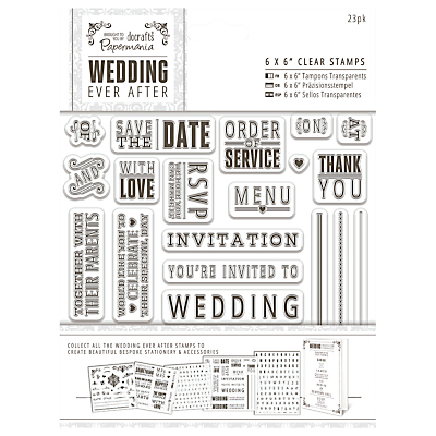 Docrafts Wedding Ever After Stamps, Clear, 6 x 6, 23pcs