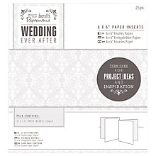 "Buy Docrafts Wedding Paper Inserts, Dove Grey, 6 x 6"", Pack of 25 Online at johnlewis.com"