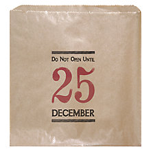 Buy East of India Do Not Open Until Christmas Gift Bag, Pack of 12, Brown Online at johnlewis.com