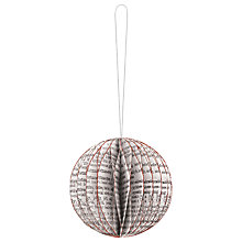Buy East of India Newsprint Baubles, Pack of 2, White Online at johnlewis.com