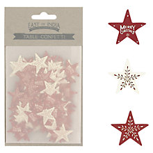 Buy East Of India Merry Christmas Table Confetti, Red Online at johnlewis.com
