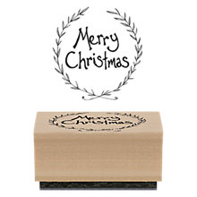 Buy East Of India Merry Christmas Rubber Stamp Online at johnlewis.com